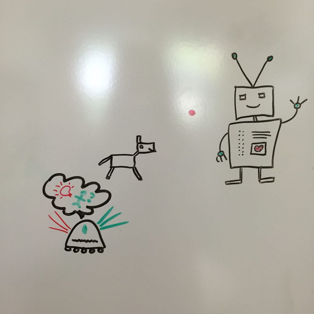 Whiteboard robots